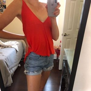 NWT Free people tank/blouse in coral